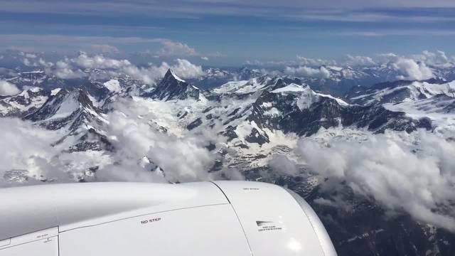 Über die Alpen: Ein erster Flug mit dem neuen Swiss-Jet.