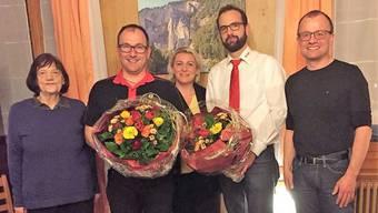 Von links nach rechts: Rita Mosimann, Fritz Reusser, Ursula Brüllhardt, Markus Büetiger und Stefan Schluep.