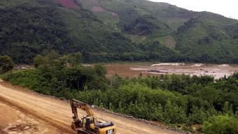 Die Bauarbeiten in Laos haben schon begonnen