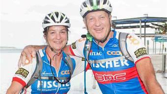 Die Bottenwilerin Birgit Richner finishte mitihrem Mann Max die neuntägige Crocodile Trophy in Australien.