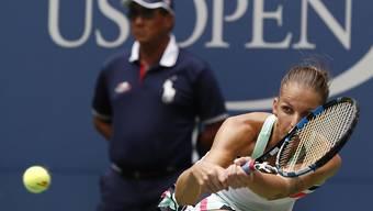 Karolina Pliskova musste sich gegen Nicole Gibbs strecken
