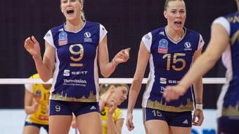 Zum elften Mal Schweizer Meister: die Volleyballerinnen von Volero Zürich