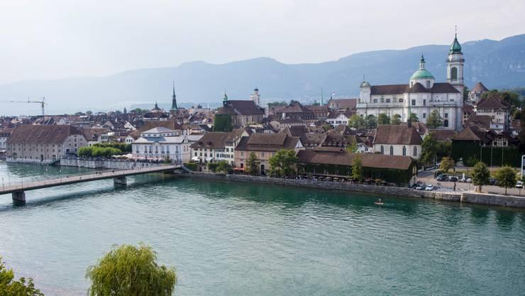 Blick auf die Stadt Solothurn vom Ramada.