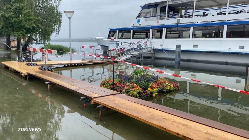 Hochwassersituation in der Schweiz: Trotz weniger Regen steigen die Pegel