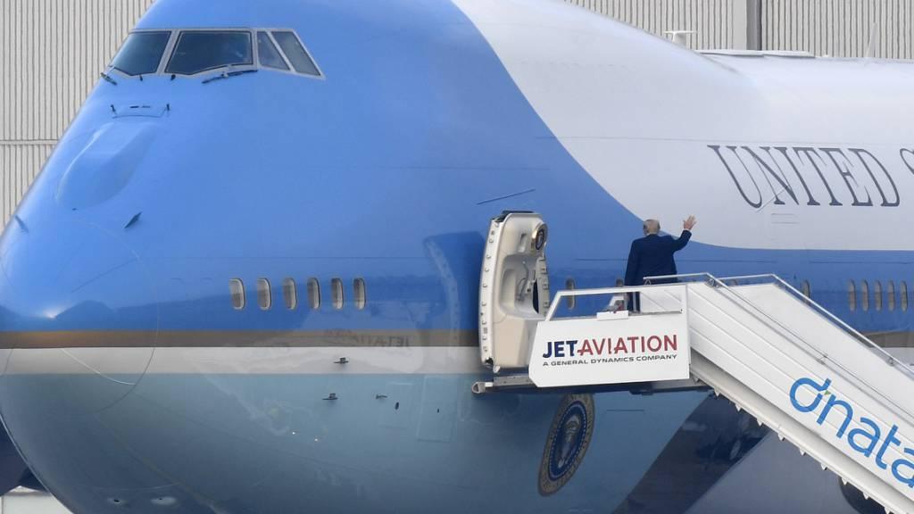 US-Präsident Trump aus Zürich abgeflogen