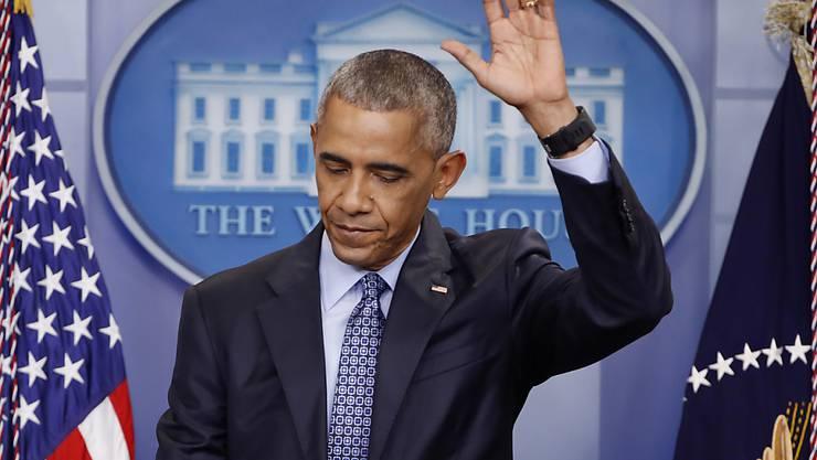 Der Abschied vom Weissen Haus fällt ihm nicht leicht: US-Präsident ist Barack Obama noch bis Freitag.