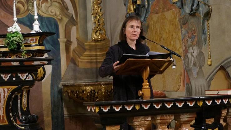 Ulrike Wolitz liest Silja Walter in der Klosterkirche: «Ich habe den Himmel gesehen». Ly Vuong