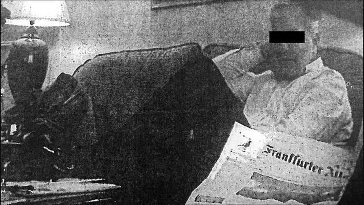 «Spion» Daniel M. – heimlich gefilmt in einem Frankfurter Hotel.