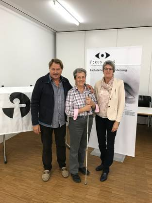 Von links Dr. Alex Heuberger, Rita  Nussbaumer  und  Claudia Graf.
