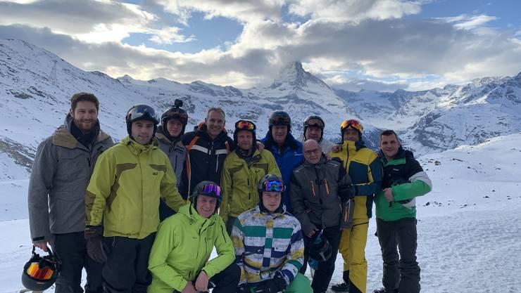 Gruppenfoto Skiweekend Zermatt