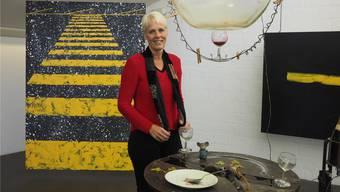 «Es waren zehn supertolle Jahre»: Regula Laux in der aktuellen Ausstellung «Deux Amis» im Rehmann-Museum.