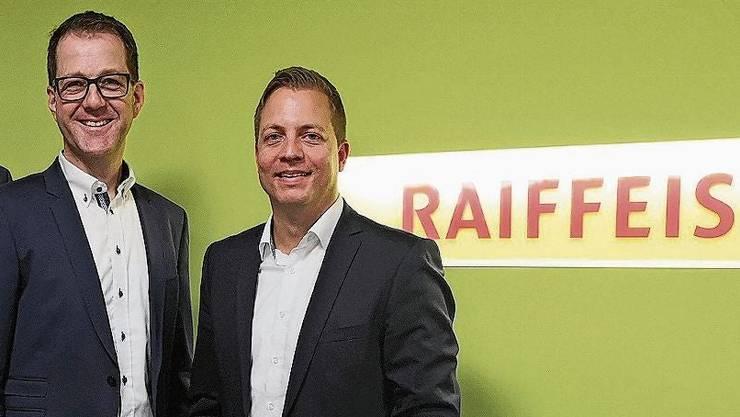 Die Fusion freut Kilian Rosenberg und Reto Hübscher. (v.l.n.r.)