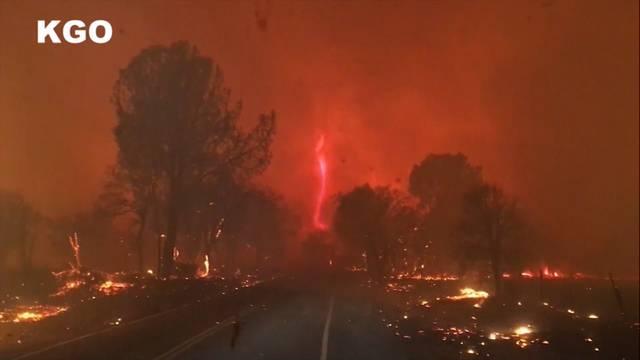 Neun Tote bei Waldbränden in Kalifornien