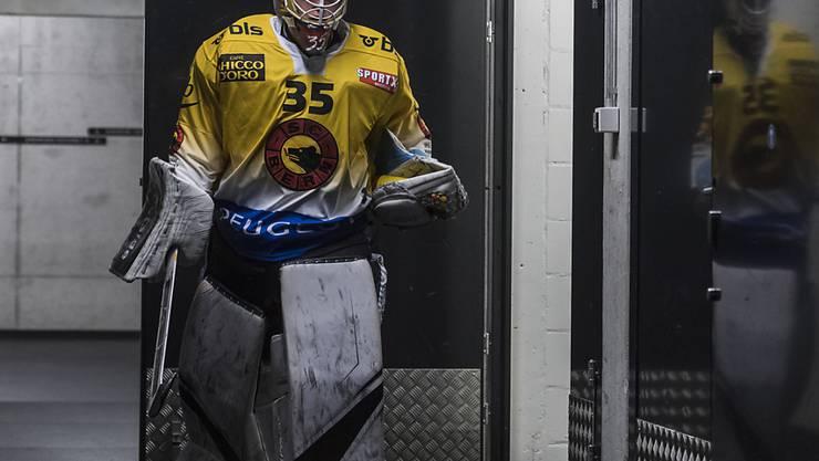 Berns Goalie Tomi Karhunen - am Freitag Vertragsverlängerung, am Samstag erster Shutout