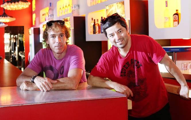 Markus Moerler und Olcay Oruç Sahin im alten «Eleven» (Archiv)