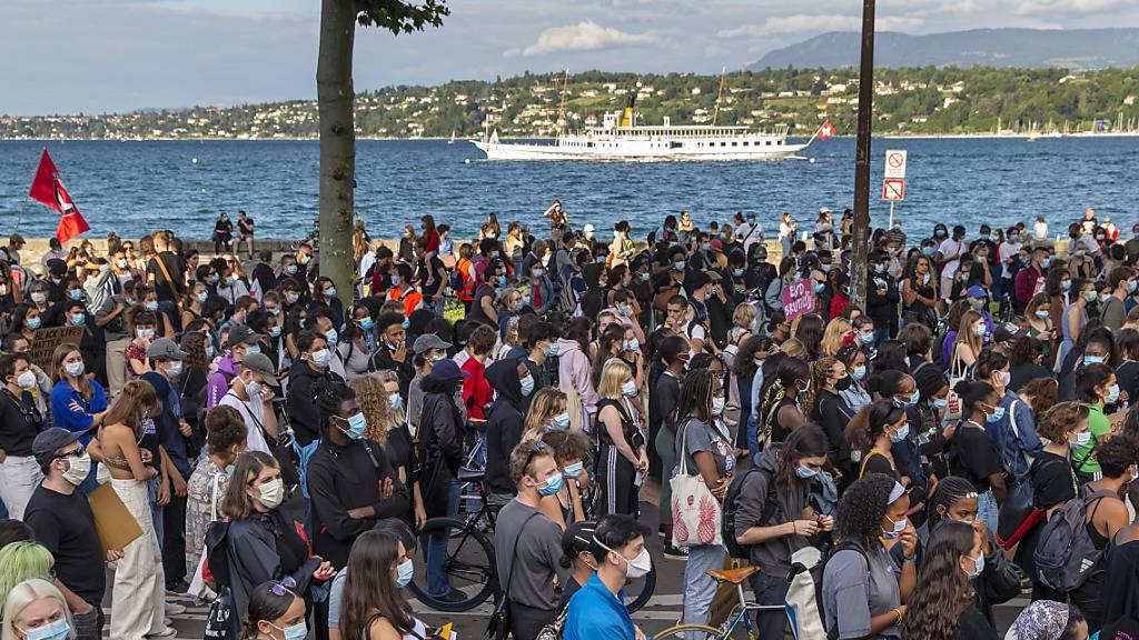Kundgebung in Genf gegen Rassismus