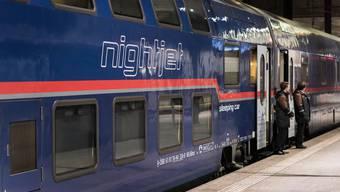 In Basel einsteigen und in Hamburg aufwachen: Die Nachfrage nach Nachtzügen ist im vergangenen Jahr stark gestiegen. Im Bild ist ein Nighjet der Österreichischen Bundesbahnen zu sehen.