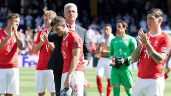 Die Schweizer nach der Niederlage gegen England im Spiel um Platz 3.