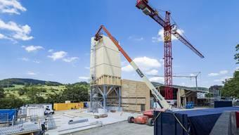 Baustelle Neubau Werkhof Kreis 3 Sissach des Tiefbauamts