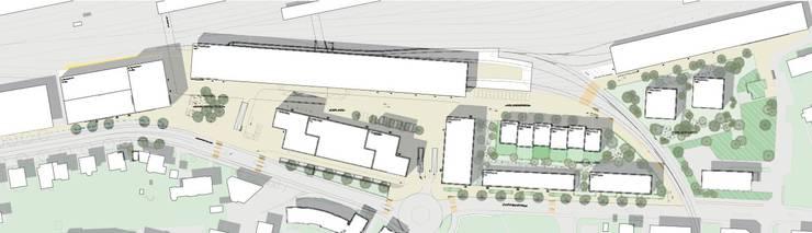 Räumliches Kernstück des Konzeptes ist ein neuer Bahnhofplatz-Süd zwischen Gleisfeld und Zuchwilerstrasse. Es sind Neubauten auf dem RBS- sowie dem Enter-Areal vorgesehen.