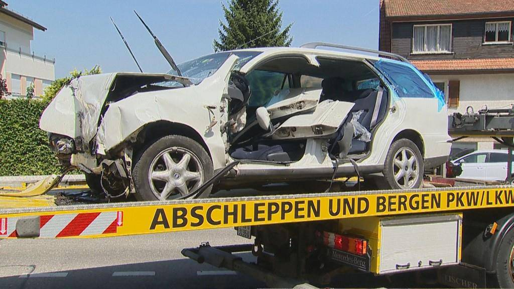 Selbstunfall in Steckborn (© BRK News)