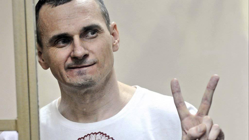 Das EU-Parlament hat am Donnerstag in Strassburg entschieden, den diesjährigen Sacharow-Preis für Meinungsfreiheit an den in Russland inhaftierte ukrainische Filmemacher Oleg Senzow zu vergeben.