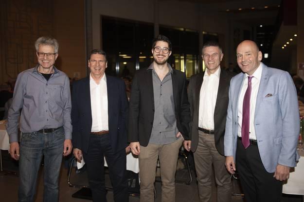 V.l.: Jörg Hagenbuch, Heinz Brändli, Kevin Kempf, Mike Beigl, Roger Cébe