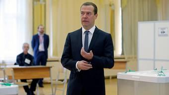 «Ich möchte allen Bürgern danken, die heute ihre Bürgerpflicht erfüllt haben», Dmitri Medwedew, Premier Russlands