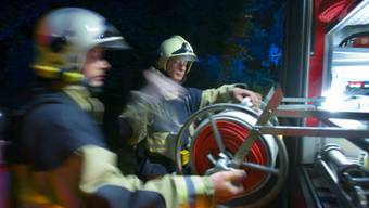 Die Feuerwehr löschte den Brand rasch. (Archiv)