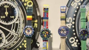 Uhren von Swatch. Die Warengruppe «Präzisionsinstrumente, Uhren und Bijouterie» gehört im Kanton Solothurn zu den Zugpferden im Export. (Archiv)