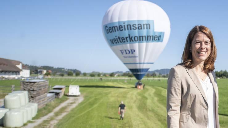 FDP-Präsidentin Petra Gössi: Riskanter Klimaschwenk.