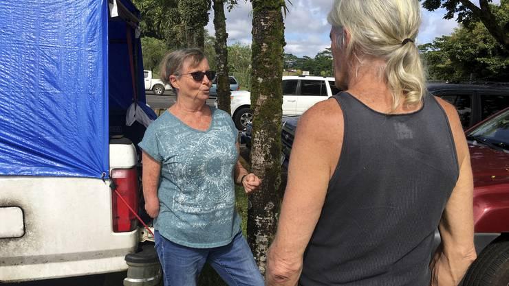 Evakuiert ins Ungewisse: Cherie McArthur und Michael McGuire in der Unterkunft in Pahoa.