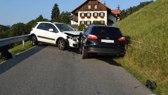 Die Lenker der beiden Autos verletzten sich beim Zusammenstoss auf der Renggstrasse.