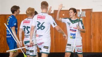Marco Louis (rechts) spielte in der Vorbereitung auf dem Level von vor drei Jahren, als er in der NLA fünfzig Skorerpunkte realisierte.