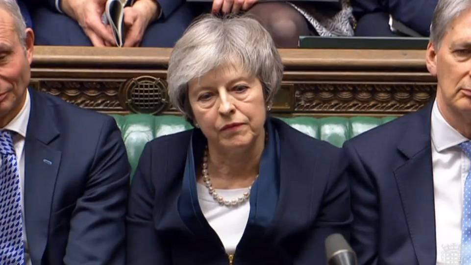Theresa May erlebt eine historische Niederlage.