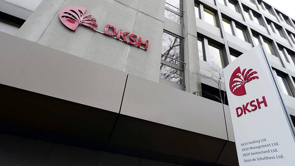 Firmenlogos am DKSH-Sitz in Zürich (Archiv)