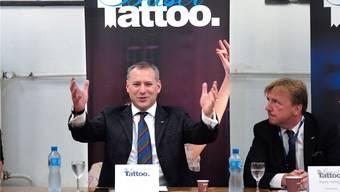 Herr über eine Firma und ein Heer an freiwilligen Helfern: Tattoo-Chef Erik Julliard.