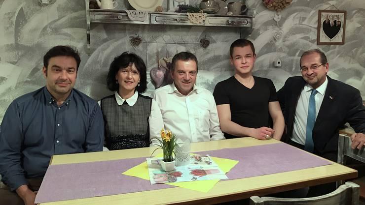 Werner Ruchti (Präsident), Diana Stärkle, Walter Wobmann, Pascal Käser, Roberto Conti (v.l.n.r.)