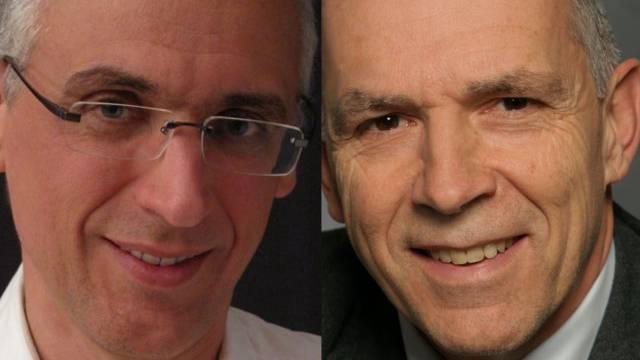Wollen in den Gemeinderat: William Steffen (parteilos, links) und Peter Vogel (FDP).