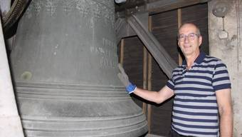 Eric Nünlist im Glockenstuhl der Eusebiuskirche Grenchen
