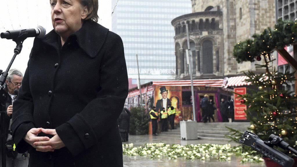 Hat den Opfern und Hinterbliebenen des Terroranschlags von Berlin zugesagt, Lehren aus den Erfahrungen im Umgang mit den Betroffenen ziehen zu wollen: Deutschlands Kanzlerin Angela Merkel.