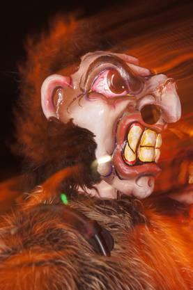 Masken wie diese gehörten zum Nachtumzug in Mellingen