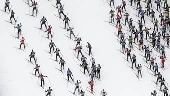 Massenphänomen Langlauf: Die Startplätze am Engadin Skimarathon sind auch im Jahr nach dem Jubiläum wieder ausgebucht.