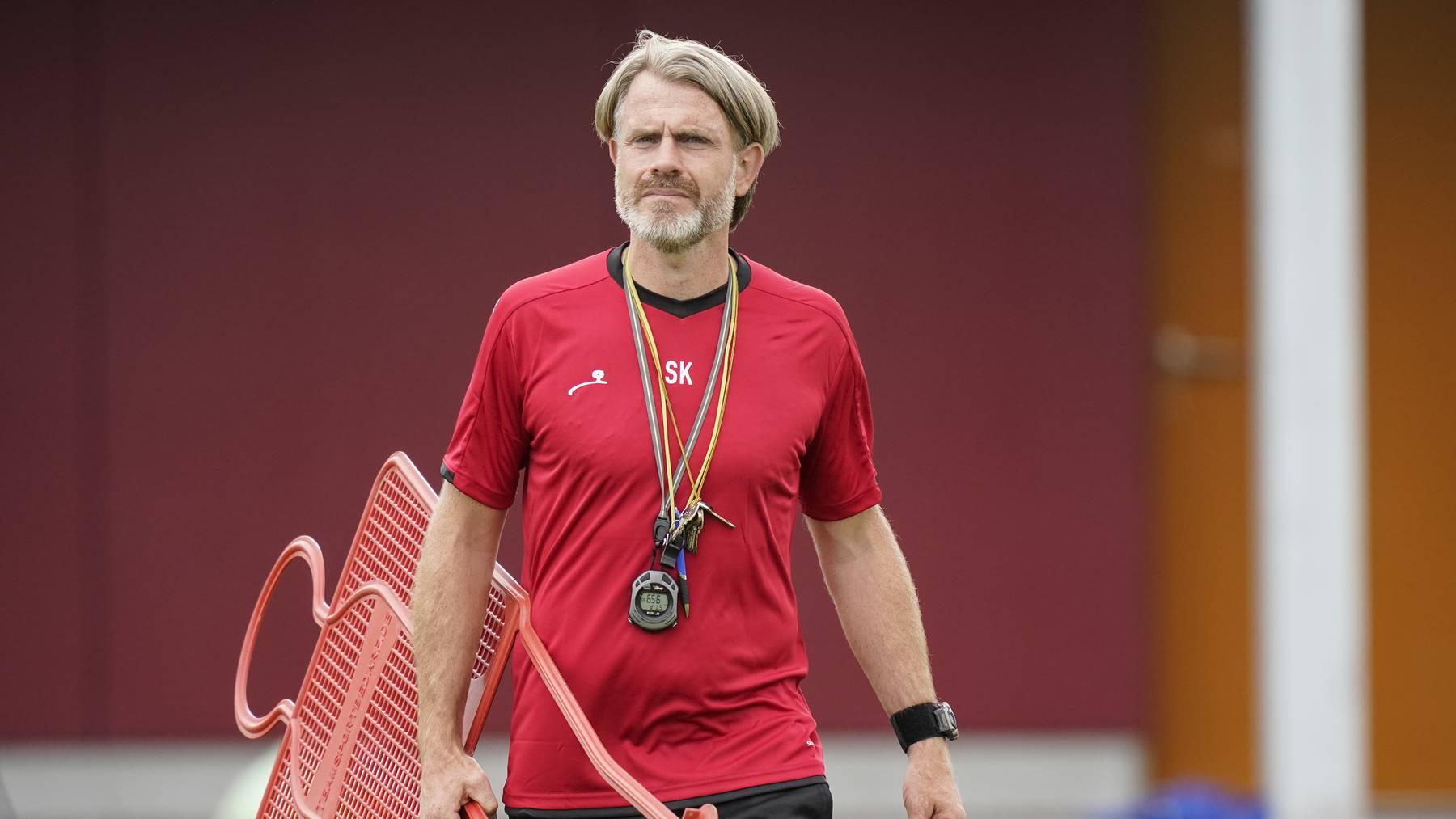 FCA-Trainer Stephan Keller gibt sich vor dem Saisonstart gelassen.