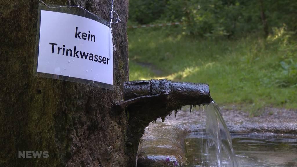 Vorsicht kein Trinkwasser: Berner Glasbrunnen schon wieder verseucht