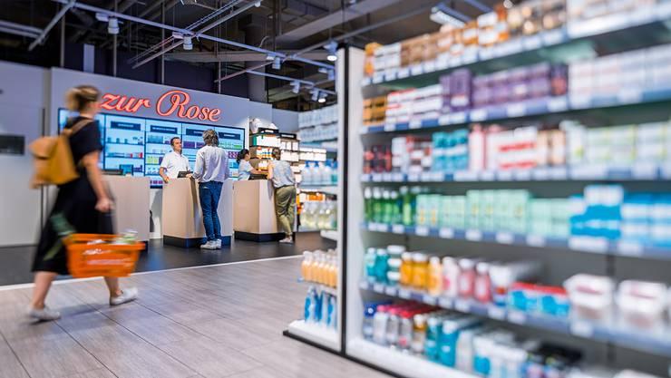 «Zur Rose», hier mit der Apotheke am Migros-Hauptsitz in  Zürich, zieht in den «MMM» im Wynecenter.
