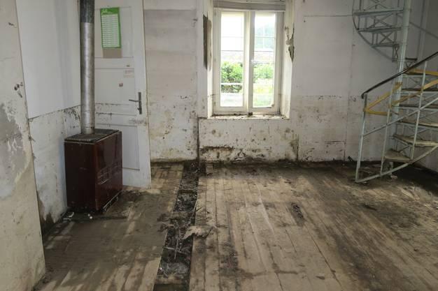 Spuren der Verwüstung in Uerkheim 4 Tage nach der Überschwemmung