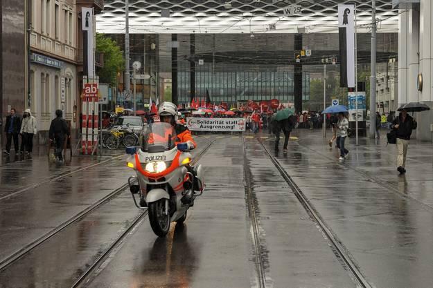 1.-Mai-Demo in Basel