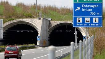 Die Einfahrt zum Tunnel von Sévaz (Archiv)