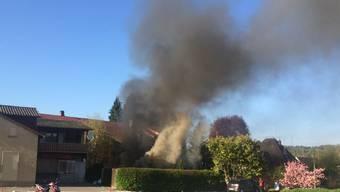Gartenhäuschen in Seon ausgebrannt